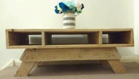 Pallet coffee table/tv unit