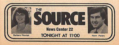 1980 Wwlp Tv News Ad Barbara Pitoniak   Norm Peters Springfield Massachusetts