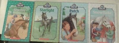 Breyer Stablemates books lot of 4 Scholastic Patch Stormy Starlight snowflake