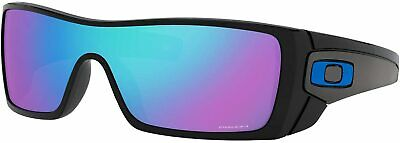 Oakley Men's Batwolf Shield Sunglasses OO9101-5827 Polished Black/Prizm Sapphire