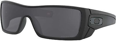Oakley Men's Batwolf Shield Sunglasses OO9101-04 Matte Black/Grey Polarized New