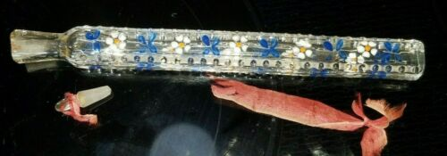 VICTORIAN  LACHRYMATORY TEAR CTACHER VIAL PERFUME  Blue Forget-me-nots