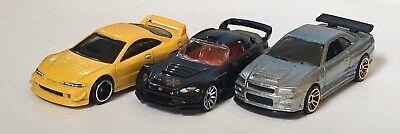 Hot Wheels Lot Of Three Nissan Skyline GT-R R34 Zamac Acura Integra Honda S2000