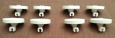 Frigidaire 154174502 5300809640 Lower Rack Wheels With Brackets White Lot Of 8 ()