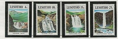 LESOTHO Sc 256-9 NH issue of 1978 - WATERFALLS