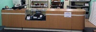Customer Retail Counter With Display Case