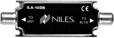 Niles ILA-16DB In-line Antenna Amplifier for Satellite Radio Tuners - In Line Antenna Amplifier