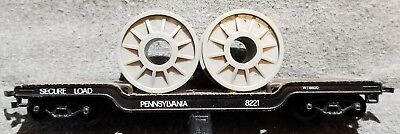 40 Well Hole Flat Coil Cable Car Depressed Center Hd Pennsylvania Prr 8221