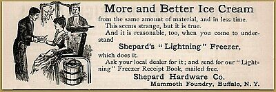1890 b Shepard's Lightning Freezer More Better Ice Cream Mammoth Foundry