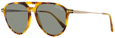 Tom Ford Aviator Sunglasses TF587 Carlo-02 55N Light Havana/Gold 58mm (Havana Aviator Sunglasses)
