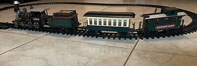Vintage New Bright 1986 Greatland 1996 Christmas Toy Train Set 4 Cars, 18 Tracks