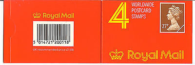 GREAT BRITAIN   MNH    Complete Booklet pane of four 27p     (R3818)