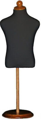 Mn-196 Black Toddler Child Dress Form Mannequin Adjustable Wood Stand Size 5c