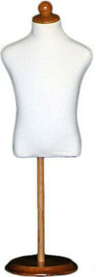 Mn-196 White Toddler Child Dress Form Mannequin Adjustable Wood Stand Size 5c
