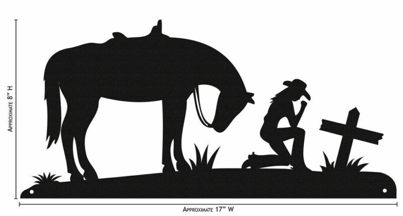 SWEN Products COWGIRL AND CROSS Simple Silhouette