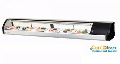 Everest Esc83r 82-58 Right Compressor Curved Glass Refrigerated Sushi Case