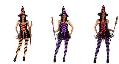 FANCY DRESS HALLOWEEN WITCH WITCHES 3 COLOURS AVAILABLE FITS 10-14 VALUE ITEM (Halloween Costumes Items)