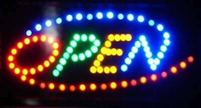 Ultra Bright Multi Color Rainbow Open Led Neon Business Motion Light Sign L101