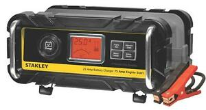 STANLEY BC25BS SMART BATTERY CHARGER WITH 75AMP ENGINE START - USA BIG BOX SURPLUS WHILE QUANTITY LASTS !!