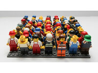 67 Lego mini figures. Mostly civilian types and some emergency service personnel.