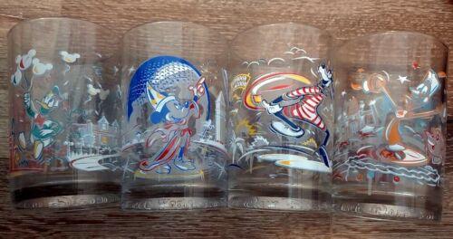 Walt Disney World 25th Ann. McDonalds Set of 4 Glasses - 1996 - New