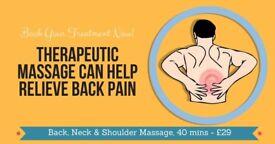 Treat Mind&Body: Swedish Massage £38/60 min; Deep Tissue £45/60 min; Aromatherapy Massage £60/90min
