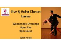 Beginners Latin Dance Classes - Jive & Salsa - Larne - Wednesdays from 23rd May 2018