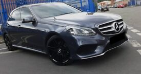 2014 - Mercedes E250 AMG SPORT 19 inch Black AMG Alloys AUTO 27,000 MILES - Excellent Condition
