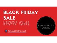 Black friday sale of all new electrical fittings