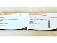 2 Tickets The View Hangar34 Liverpool 13th May 17 £42 total