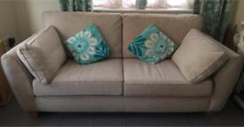 🌟 For Sale NEXT 3 Seater Neutral Sofa EUC 🌟