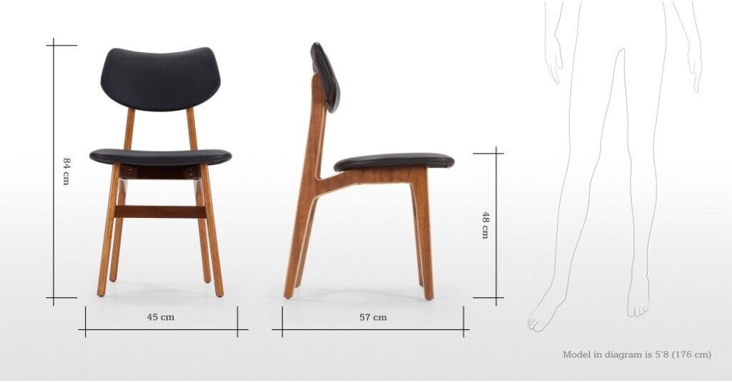 Wondrous New Made Set Of 4 Jacob Dining Chairs Coal Black And Walnut Rrp 398 In Stanley County Durham Gumtree Creativecarmelina Interior Chair Design Creativecarmelinacom