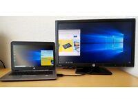 "6th Gen i5 Laptop HP Elitebook 820 G3 i5-6200u +HP 23"" FHD 1080p IPS LED,Win 10,"