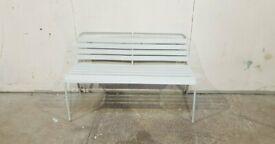 Metal 2 Seater Garden Bench - Grey No050117
