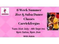 6 Wk Summer Jive & Salsa Dance Classes - Carrickfergus - Tuesdays from 31st July 2018