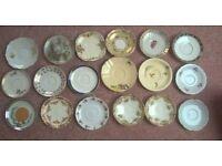 18 Vintage saucers