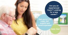 LIVE-IN CARER £75-105 PER DAY - 2 WEEKS ON/2 WEEKS OFF