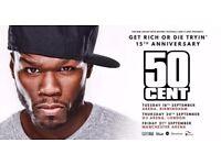 50 cent, manchester ticket, standing