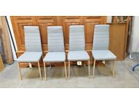 Set of 4 Helena Grey Dining Chairs No150411