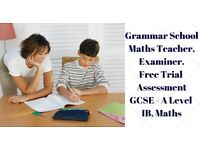 Grammar School Teacher Maths Tutor Finchley 11 plus tutor GCSE Maths tutor Hampstead Barnet