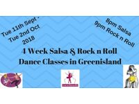 4 Wk Salsa and Rock n Roll Dance Classes in Greenisland from Tuesday 11th Sept 2018