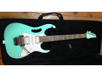 Ibanez JEM 70V Electric Guitar in Sea Foam Green - Mint Condition (Inc Case)