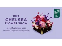 RHS Chelsea Flower Show Ticket for Friday Sept 24th £70.00