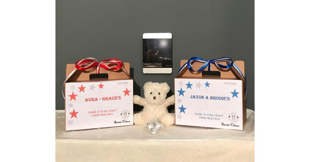 Personalised Name A Star Teddy Gift Set In Widnes Cheshire
