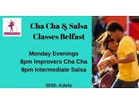 4 Wk Improvers Cha Cha & Intermediate Salsa Course - Mondays in Belfast from 14th May 2018