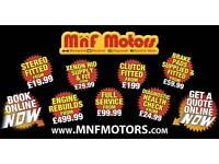 MnF Motors Mechanical & Electrical repairs - £99 Servicing, DPF DELETE & REMAP