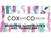 Hairstylist and nail technician required for new salon