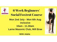 6 Week Beginners Social Foxtrot (Ballroom Dancing) Class - Larne, Monday mornings from 2nd July 2018