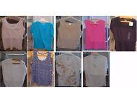 Ladies sleeveless tops job lot size 14-16