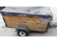 Wooden Trailer with metal frame 5ft x 3ft